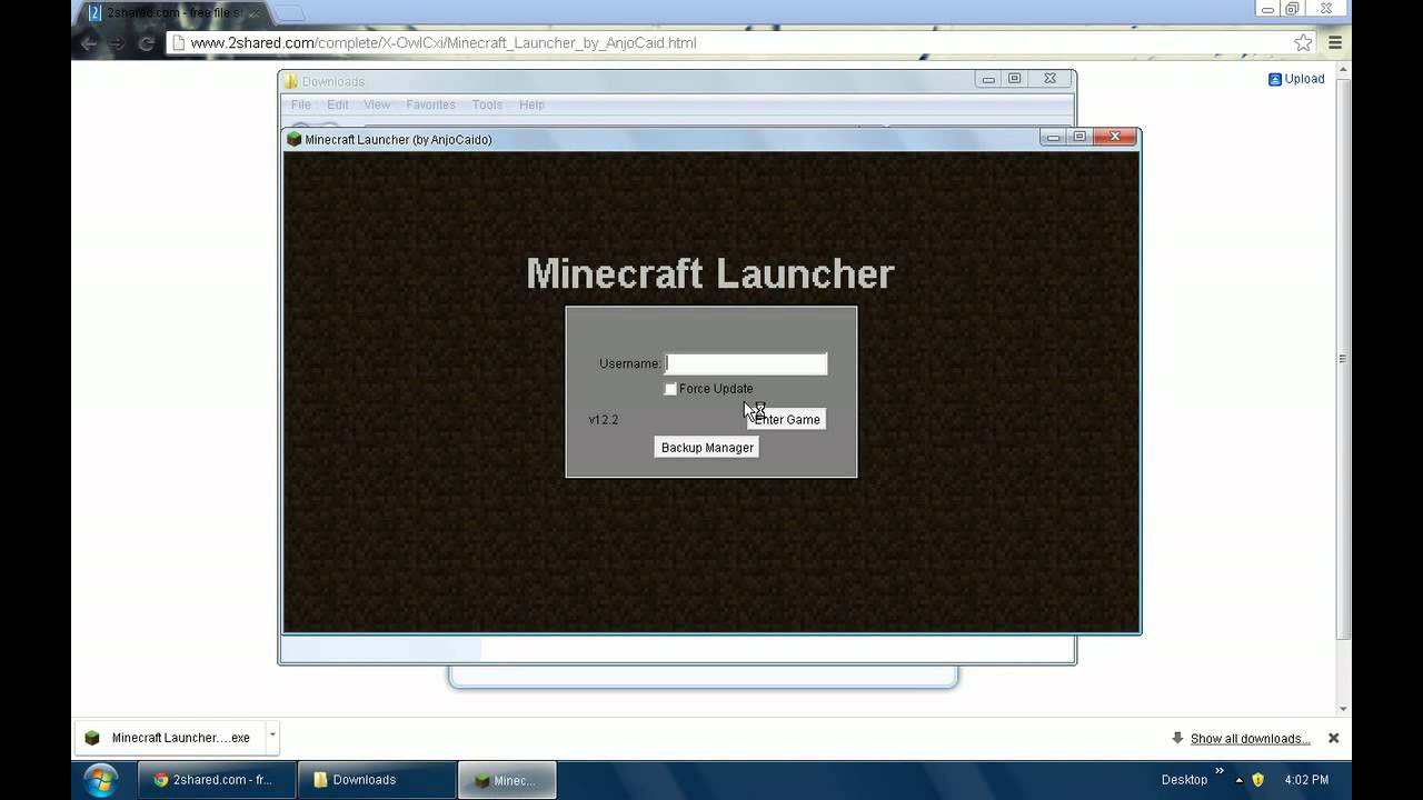 Minecraft launcher 1.5.2 by anjocaido