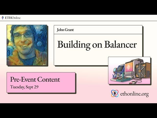 ETHOnline 🛠️ Building on Balancer