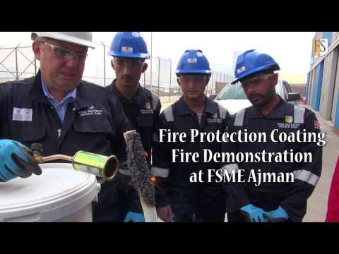 Cable Protection Coating in a Fire Demonstration by Fire Security Middle East, Ajman.