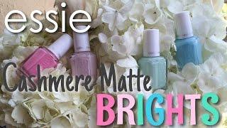 Essie 2015 Cashmere Matte Brights | Nail Polish Pursuit