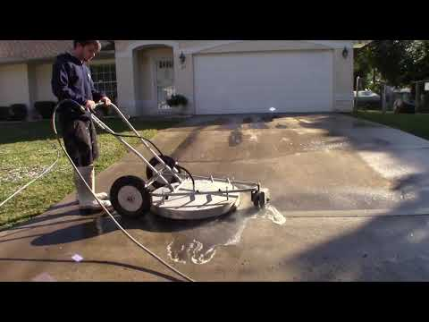 HUGE Surface Cleaner DESTROYS Dirty Driveway. [1080p HD]