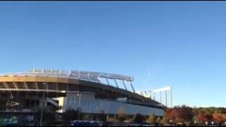 Kansas City Royals win ALCS. Sounds from the parking lot.