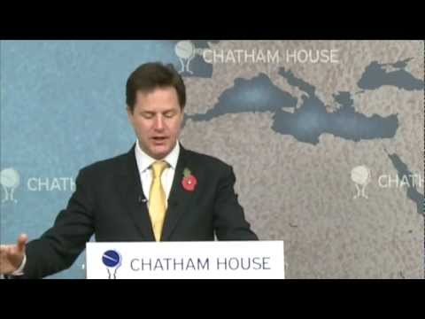 Nick Clegg --A Vision for the UK in Europe on YouTube