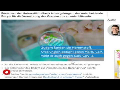 الباحثون الألمان يجدون المانع Coronavirus - Des Chercheurs Allemands Découvrent Un Inhibiteur