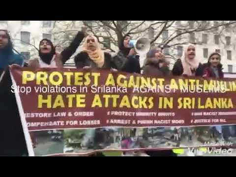 Protests against attacks on minorities in Sri Lanka held in the UK