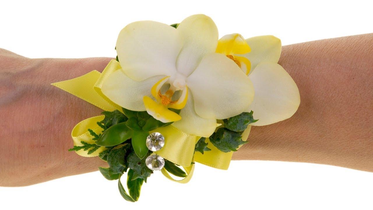 Wedding Wrist Corsage Youtube