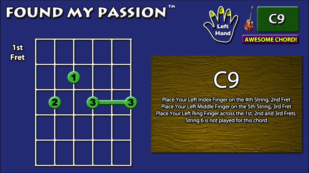 Awesome Sounding Guitar Chord C9 X 3 2 3 3 3 Youtube