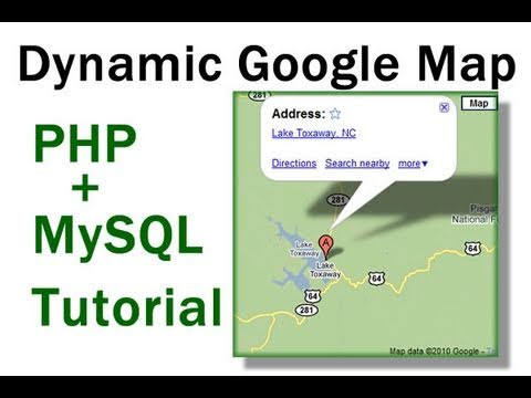 Dynamic Google Maps Location Tutorial For PHP MySQL Driven Websites on