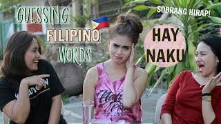 Guessing Tagalog Words ft. My Pinsan (Taglish) | Jessica MacCleary ♡
