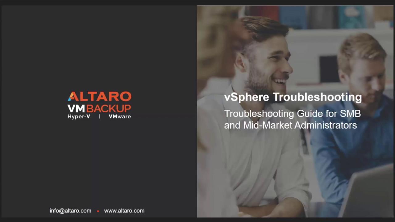 vSphere Troubleshooting Webinar - Q&A Follow Up