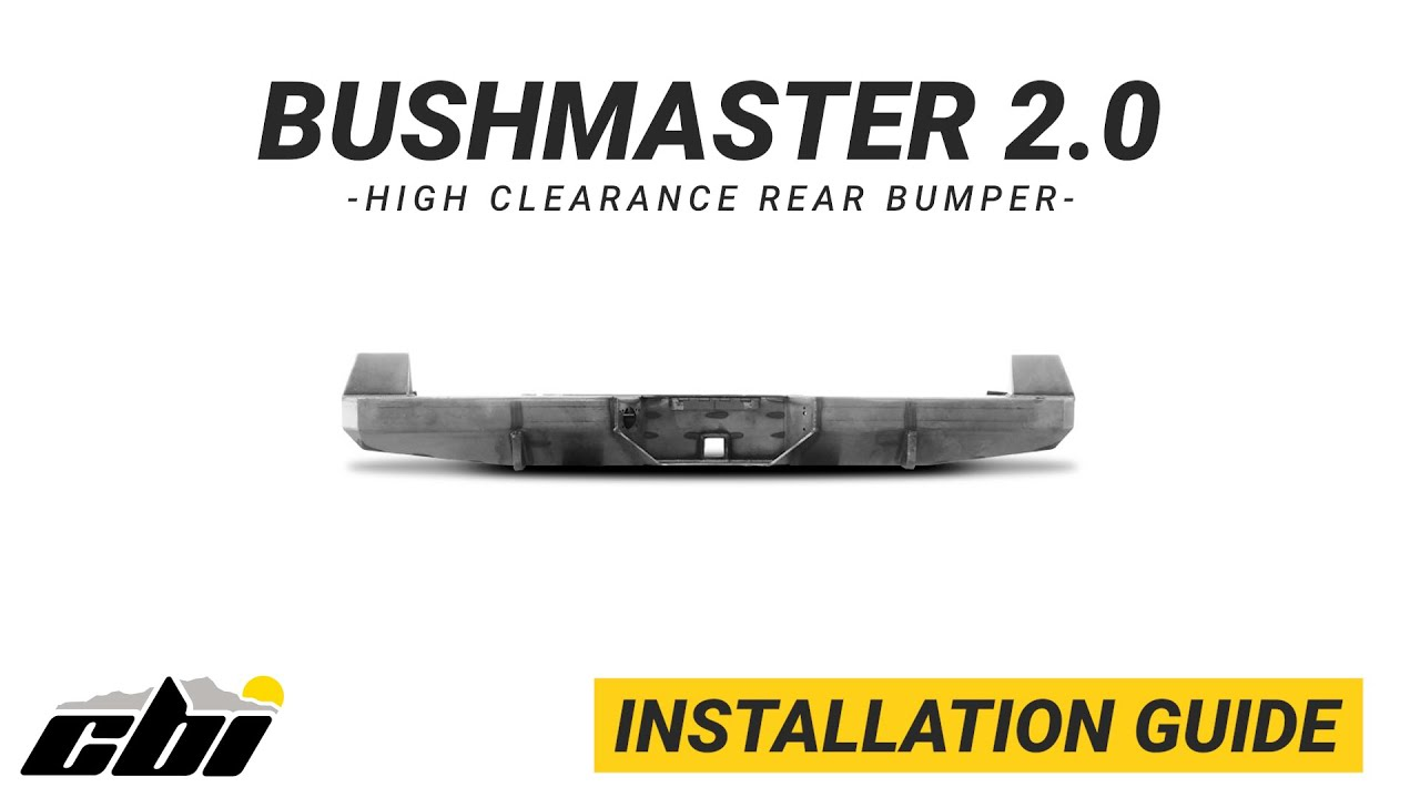 CBI INSTALL: Bushmaster 2.0 High Clearance Rear Bumper