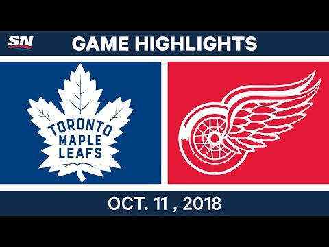 NHL Highlights | Maple Leafs vs. Red Wings - Oct. 11, 2018