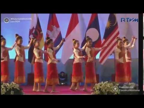 Lao Dance: ຟ້ອນສຽງກອງສະຫລອງໄຊ Fawn Siengkong Salong Xay