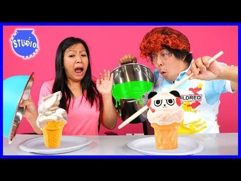 Squishy Vs. Real Food Challenge ! Girls Vs. Boys !