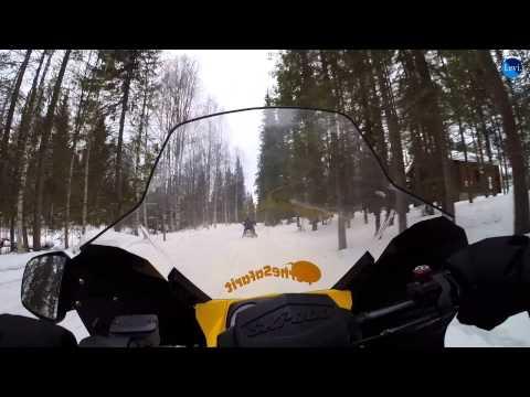 Snowmobile Tour - Levi Finland Maart 2014