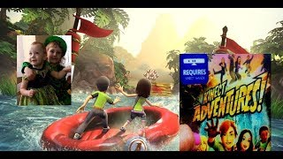 Обзор игры для xbox 360 Kinect Adventures Gameplay kids дети играют в Икс Бокс