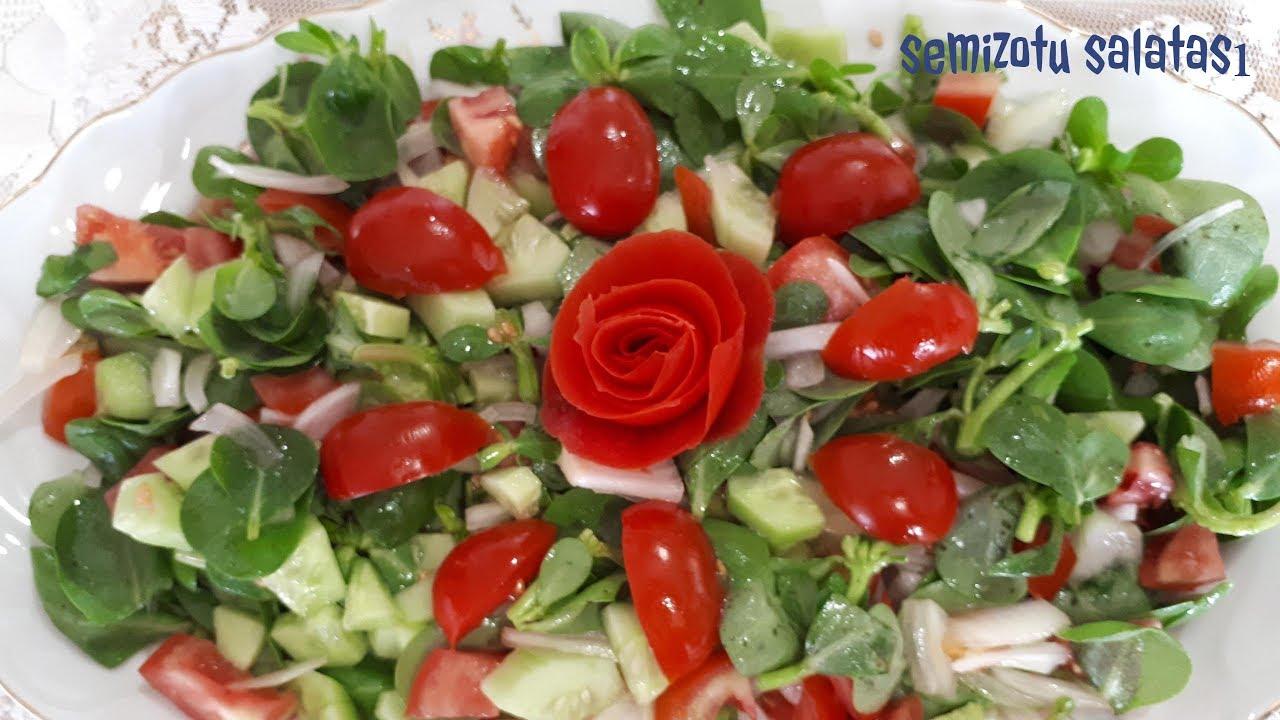 Domatesli Semizotu Salatası Tarifi Videosu