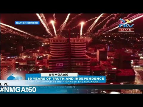 Scenic fireworks display engulfs Nation Media Group's Nation Centre as Media House turns 60 years