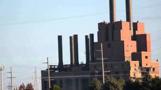Marysville, Michigan 93 Year Old Detroit Edison Power Plant Implosion