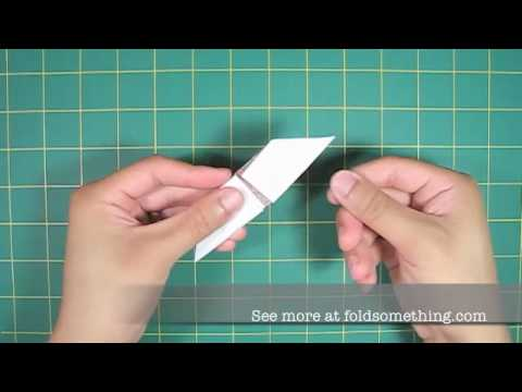 how to make an origami cradle