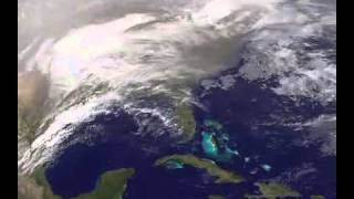 2000-Mile Storm February 01, 2011 (video clip from satellite photos)