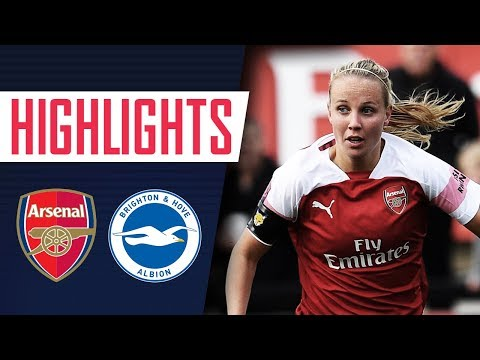 9 WINS IN A ROW!  | Arsenal Women 4 - 1 Brighton | Goals & highlights