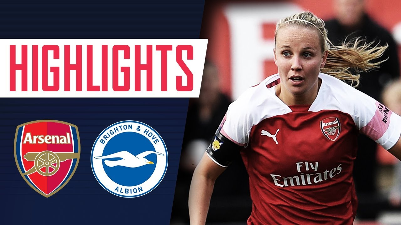 9 Wins In A Row Arsenal Women 4 1 Brighton Goals Highlights
