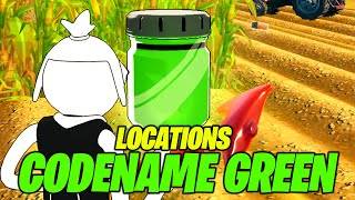 Find Bottles of Codename G.R.N. (GREEN) in corny crops (ALL LOCATIONS) - Fortnite