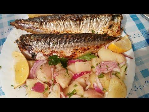 Bakina kuhinja - skuša u rerni fenomenalni recept (fish with spices in the oven phenomenal recipe)