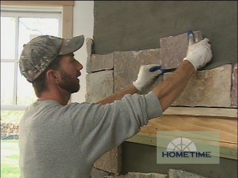 Installing Lower Level Fireplace Stone Surround Youtube