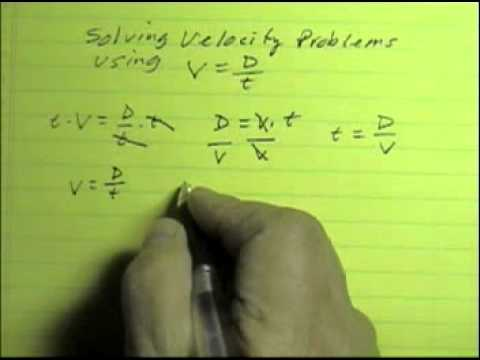Velocity Equation Part How To Use The Velocity Equation
