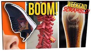 Weekend Scramble - Shoe Sniffer Caught; Sidewalk Blast; New Nitro Cola