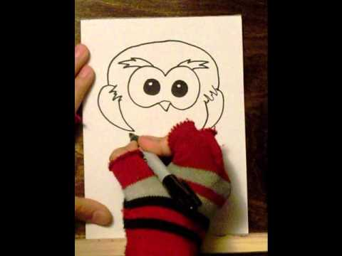 how to draw a cute owl