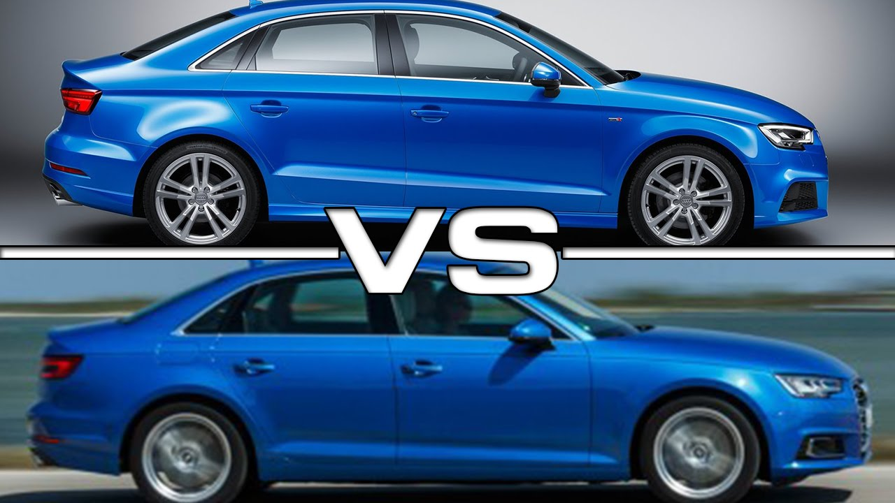 2017 Audi A3 Sedan Vs Audi A4 Youtube