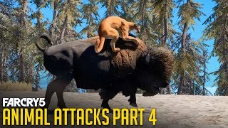 Gambar cover FAR CRY 5 - All Animal Attacks on Cougar (Animal Attacks Part 4) Animals VS Cougars