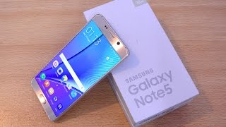 Samsung Galaxy Note 5 GOLD - Unboxing, Setup & First Look HD