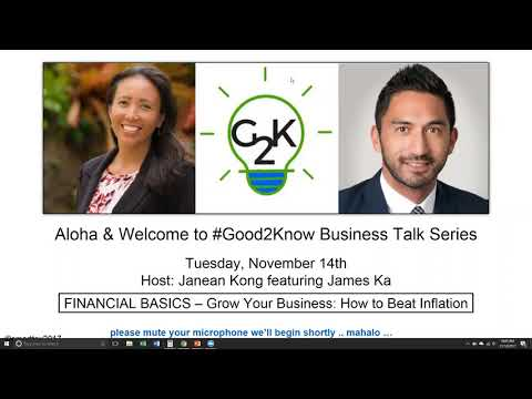 #G2K Talk Series: 11/14 Financial Basics - How to beat inflation and grow your business!