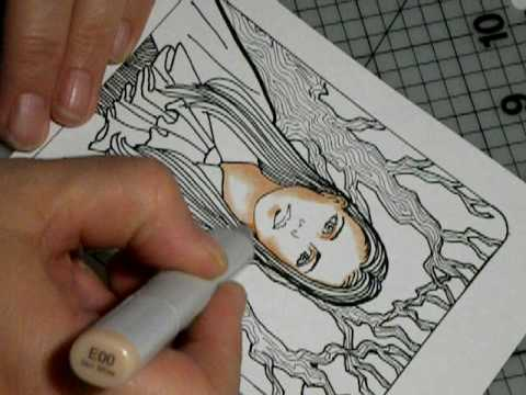 coloring skin tones with copic markers - Skin Color Markers