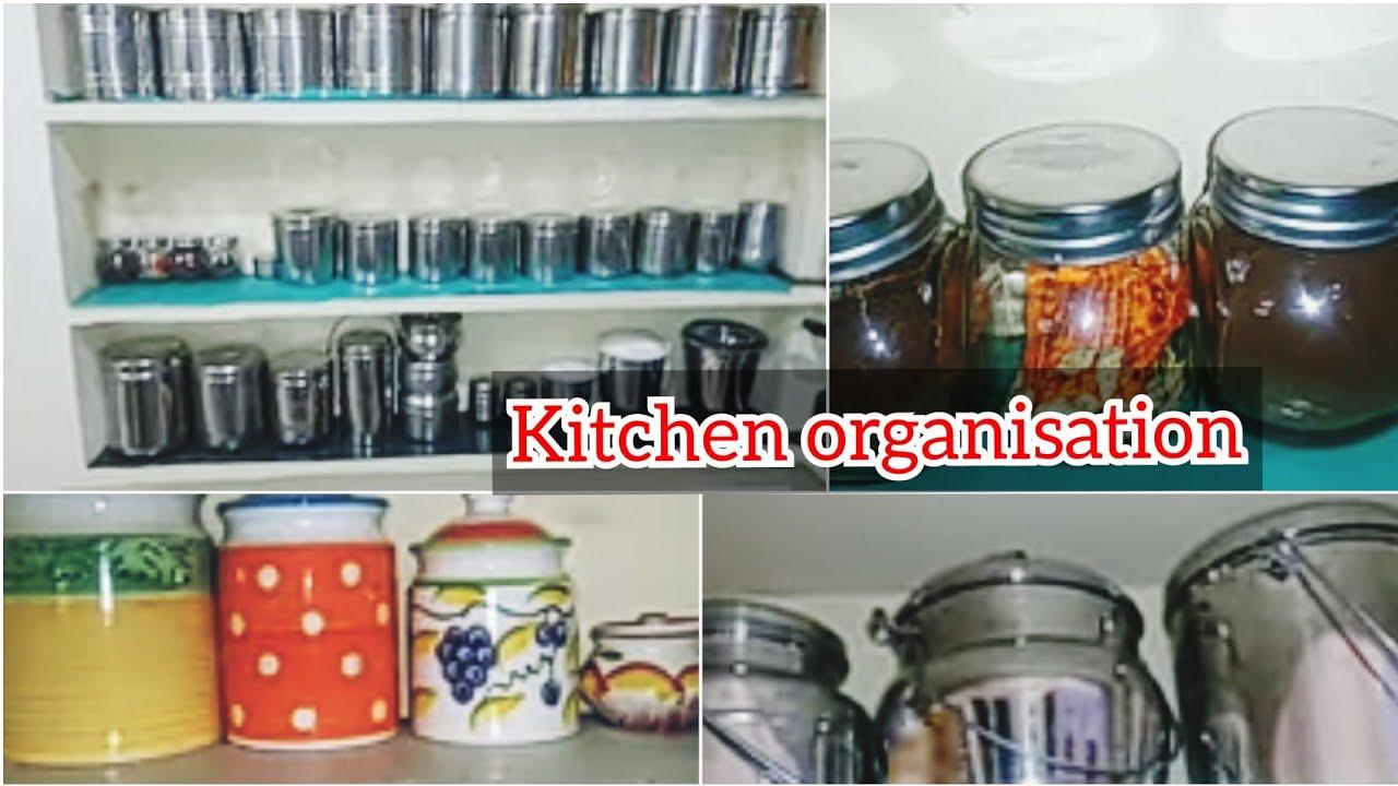 kitchen tour/kitchen organization ideas/non modular small kitchen ...