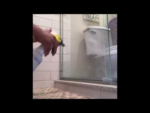 Quick Tip: How to clean a shower glass door