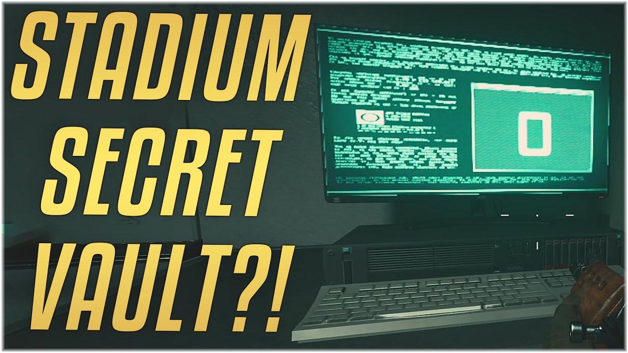 Locked Vault Inside Stadium Season 5 Easter Egg In Warzone Modern Warfare Warzone Youtube