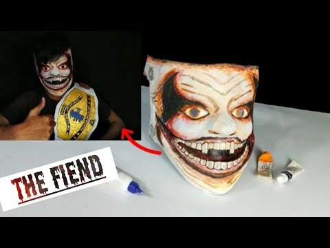 "How to make WWE Bray Wyatt mask ""The Fiend"" from paper 