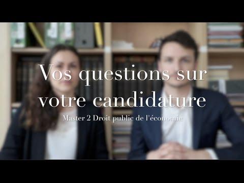 Vos Questions Sur Les Candidatures - Master 2 DPE D'Assas (Paris II)