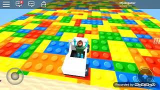 ROBLOX sliding down the Lego slide