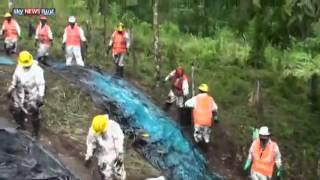 معالجة تسرب نفطي في بيرو