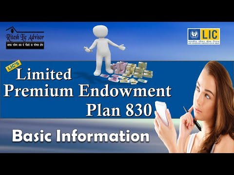 Limited Payment Endowment Plan 830 (Basic Information)