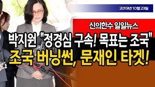 """(일일뉴스)  / 박지원 """"정경심 구속! 조국이 목표!"""" / 신의한수 19.10.23"""