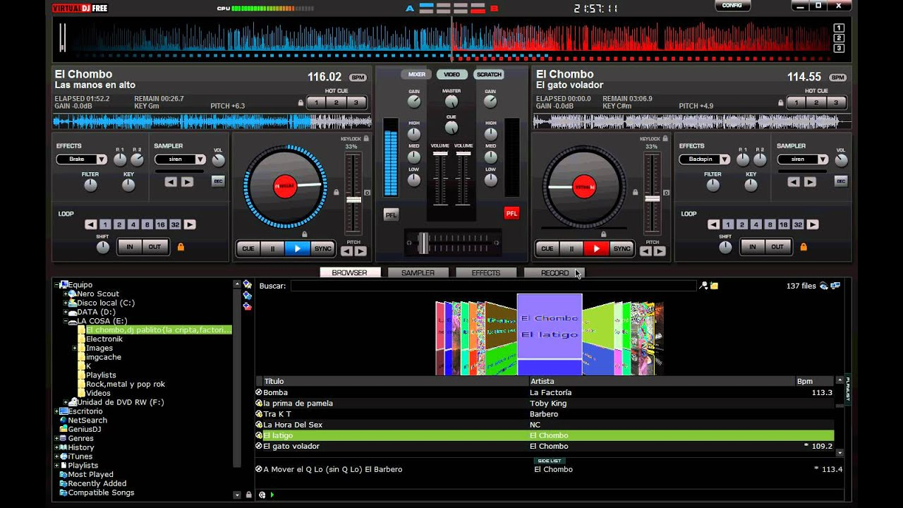 virtual dj  mix el chombo