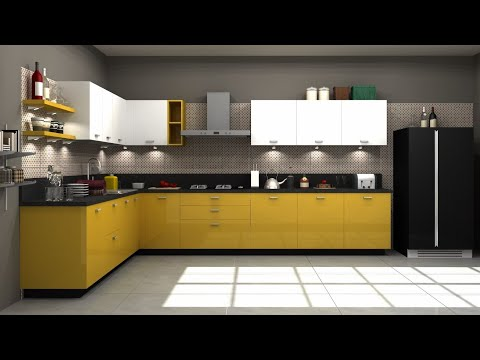 25+ L Shaped Modular Kitchen Designs for amazing kitchen interiors