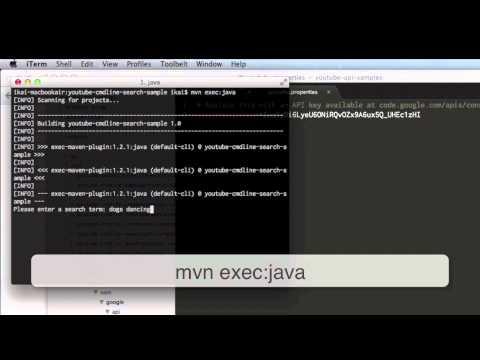 YouTube API Java Tutorials